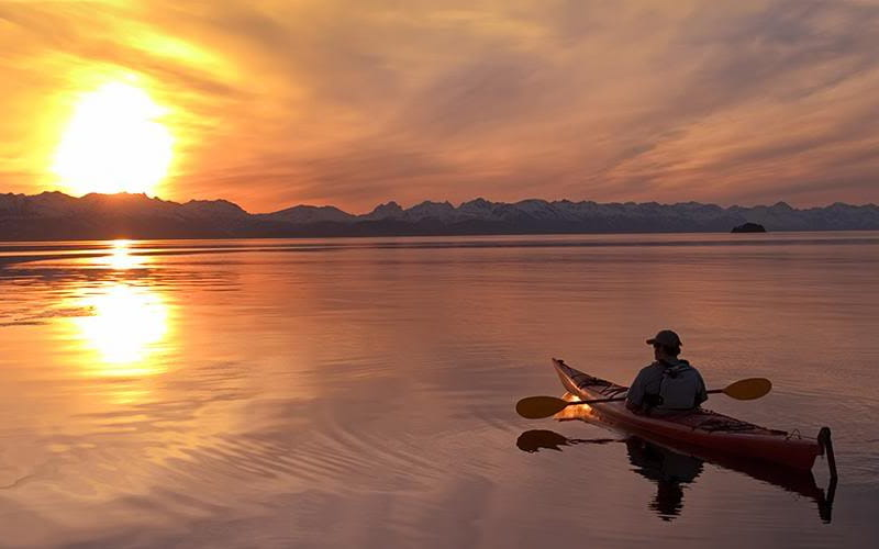 Excursión puesta de sol en kayak